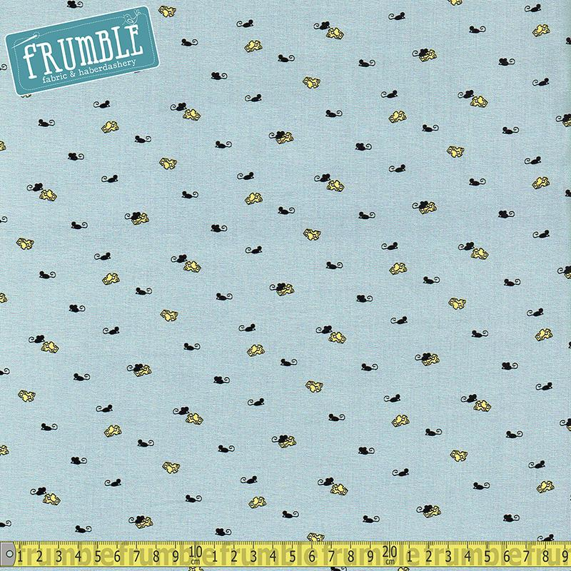Mighty Mouse Grey - Frumble Fabrics
