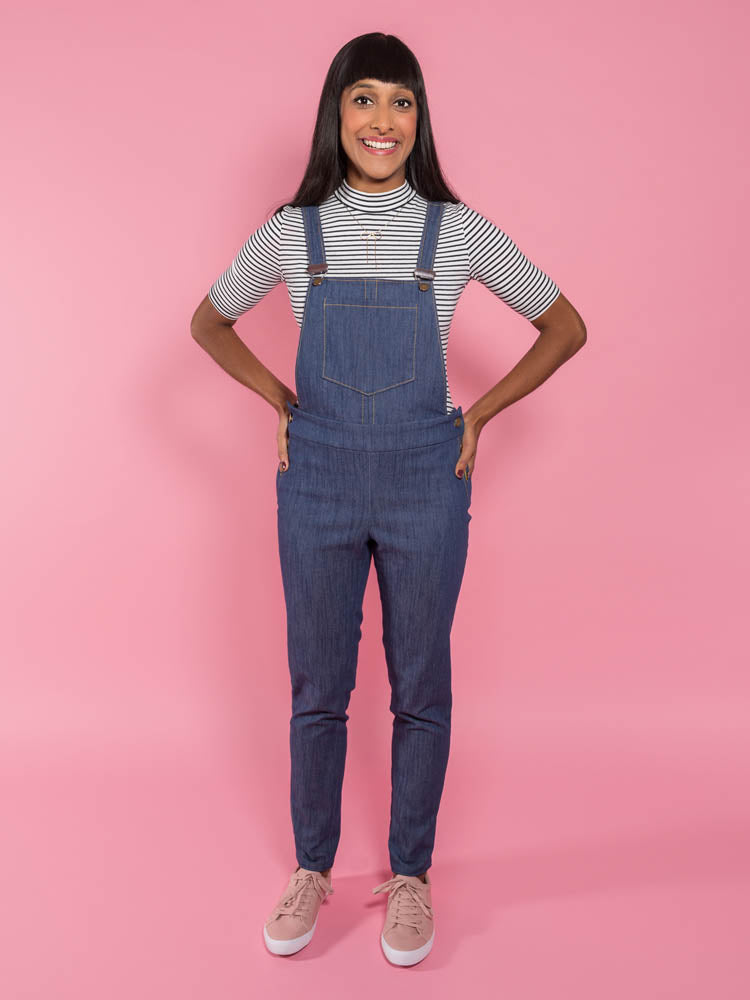 1019 Mila Dungarees - Tilly and the Buttons Pattern - Frumble Fabrics