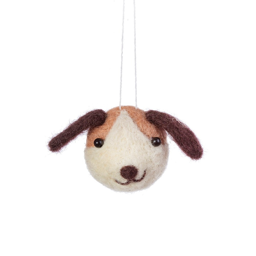 Cute Dog Head Felt Decoration