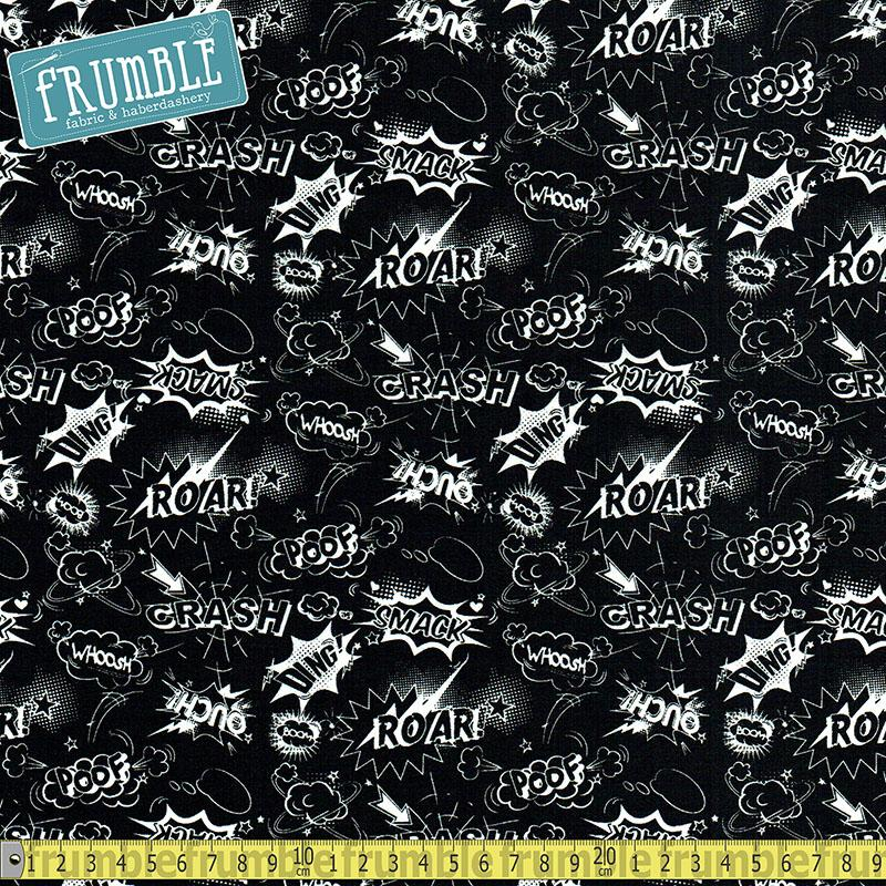 Comical Black - Frumble Fabrics