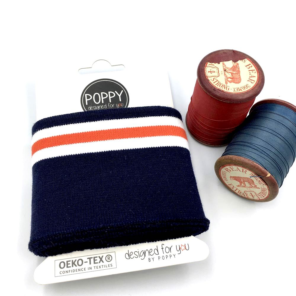 Cuffs by Poppy - Mod Stripes Navy