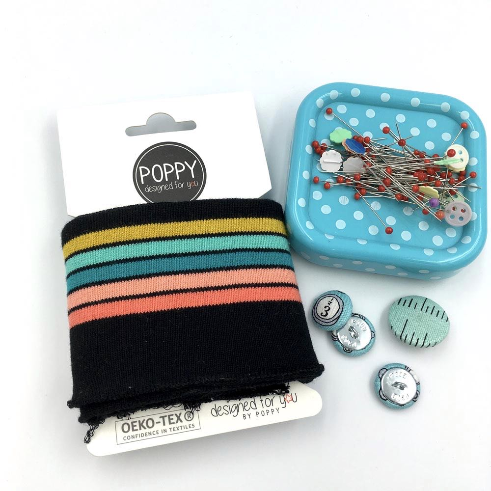 Cuffs by Poppy - Stripes Multi Black
