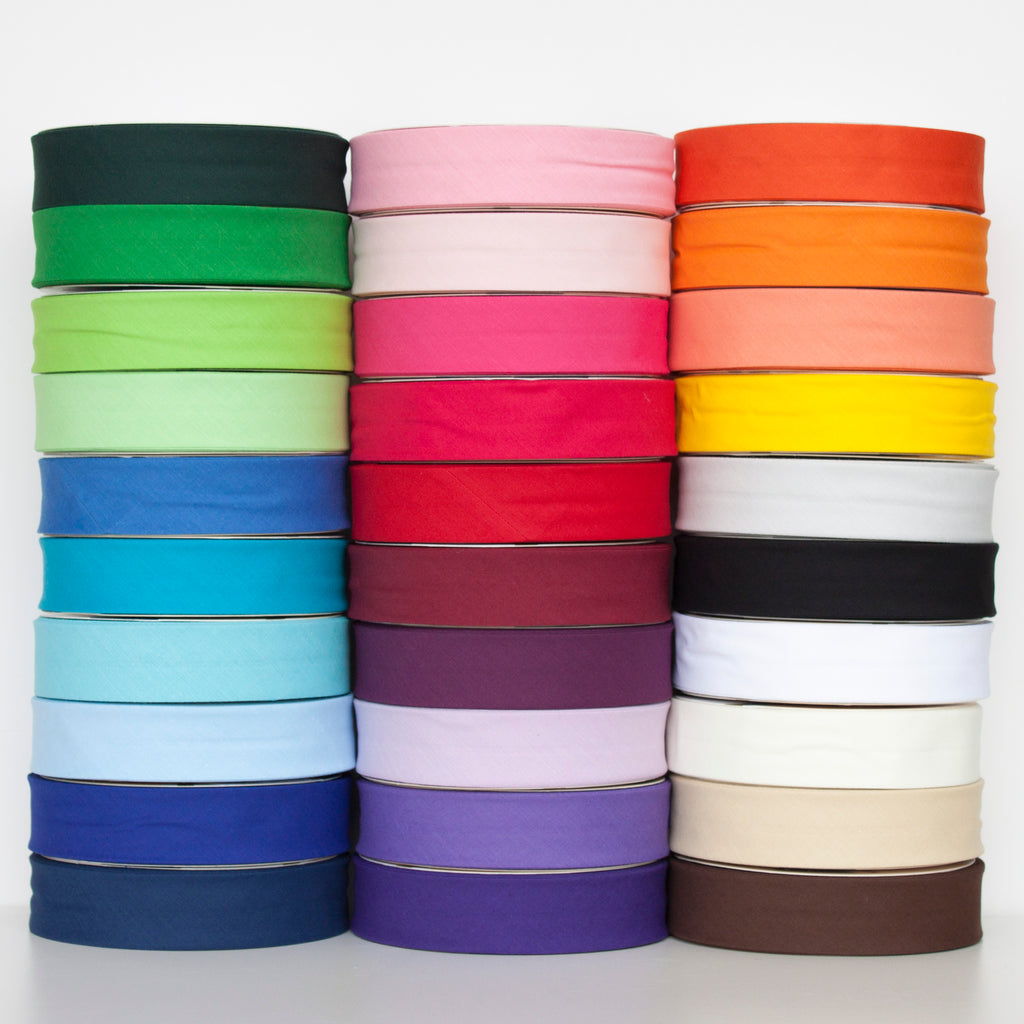 Quality 30mm Plain Bias Binding Tape - Frumble Fabrics