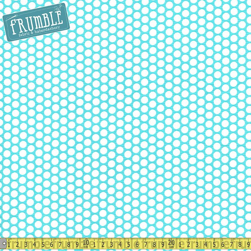 Honeycomb Dot Aqua Fabric by Riley Blake