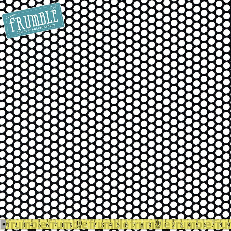 Honeycomb Dot Black Fabric by Riley Blake
