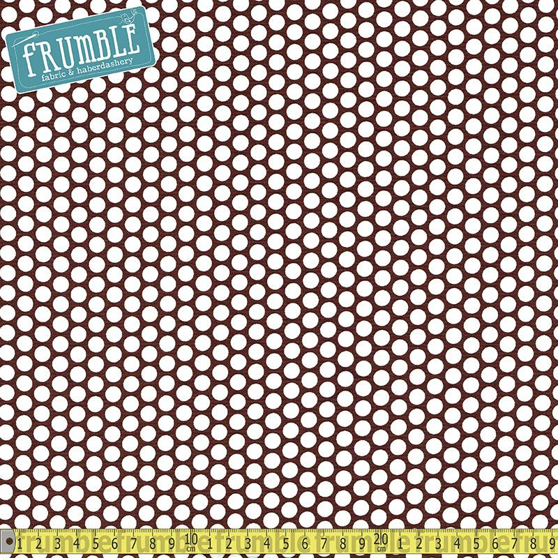 Honeycomb Dot Brown Fabric by Riley Blake