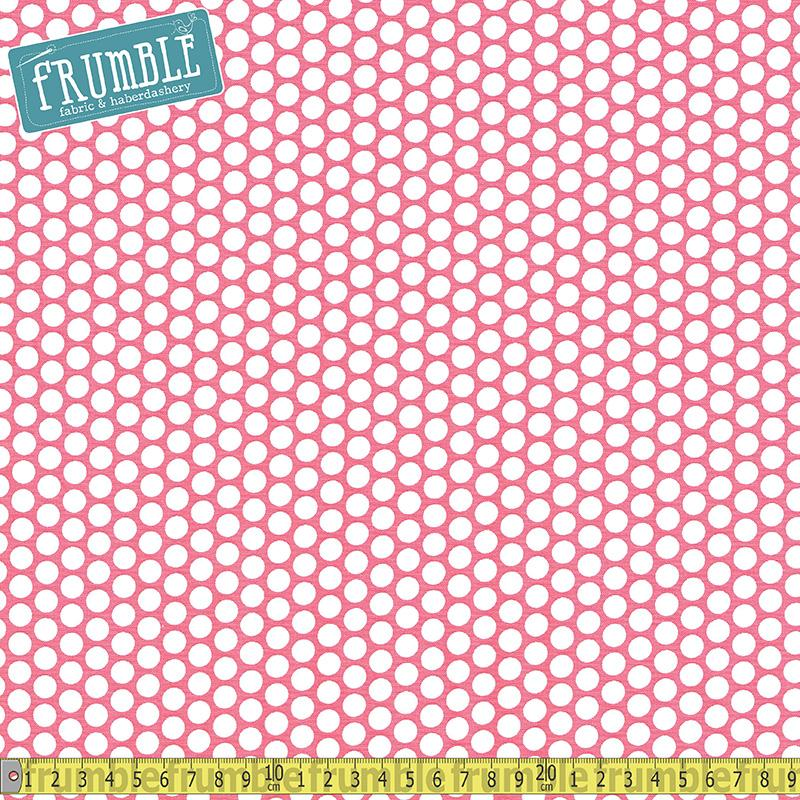 Honeycomb Dot Hot Pink Fabric by Riley Blake