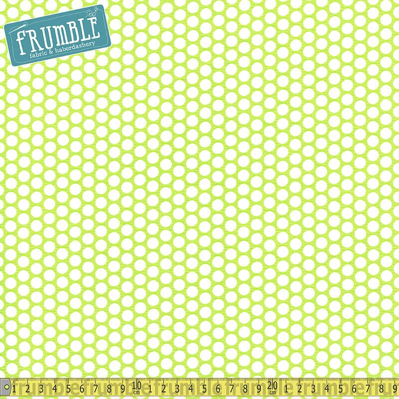 Honeycomb Dot Lime Fabric by Riley Blake