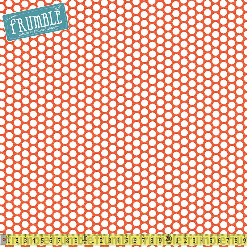 Honeycomb Dot Orange - Frumble Fabrics
