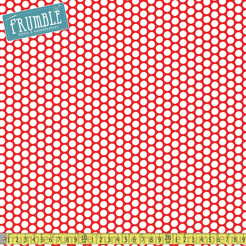 Honeycomb Dot Red Fabric by Riley Blake