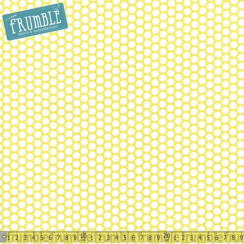 Honeycomb Dot Yellow - Frumble Fabrics