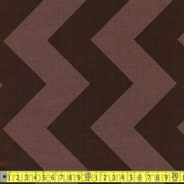Large Chevron Brown Fabric by Riley Blake