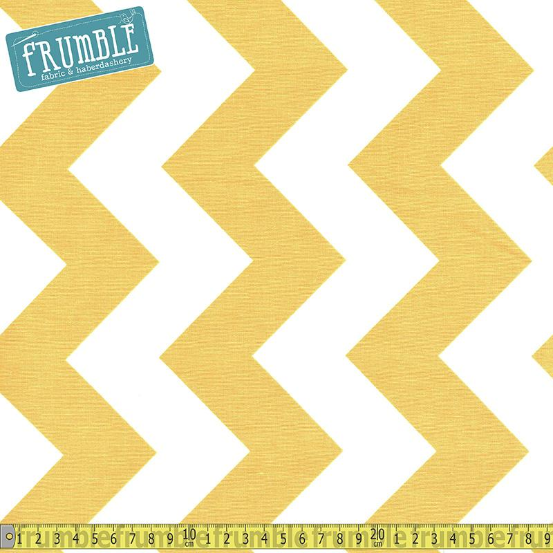Large Chevron White & Yellow Fabric by Riley Blake
