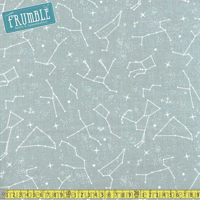 NASA Out Of This World Constellations Grey - Frumble Fabrics