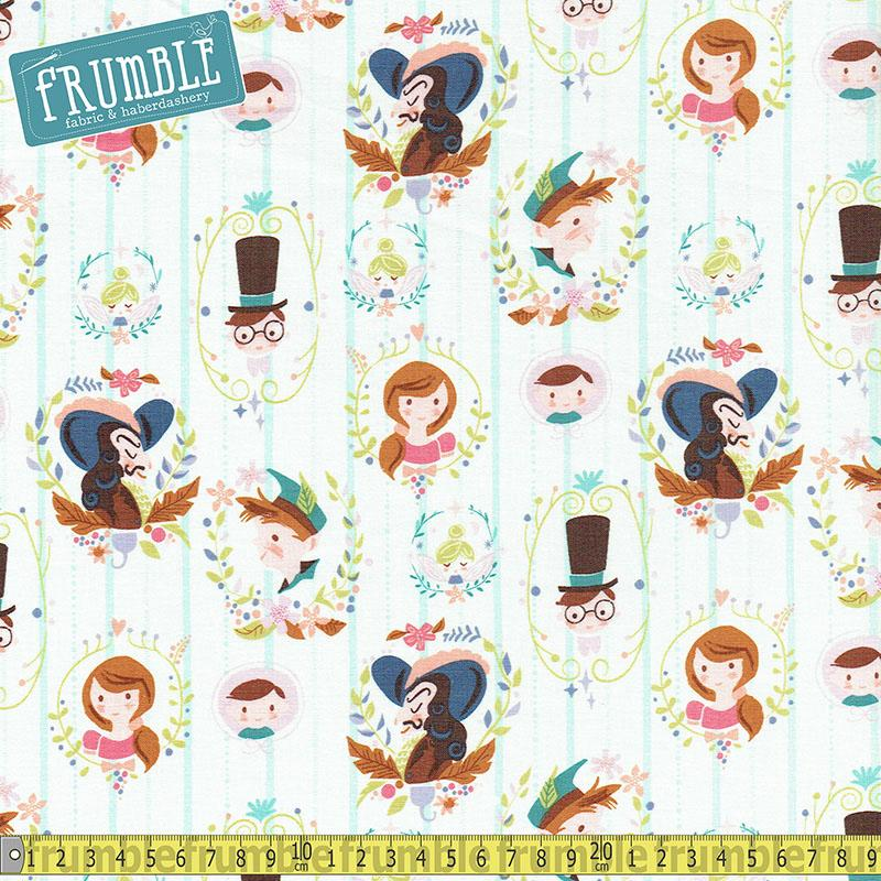 Neverland Darling Wall Cream Fabric by Riley Blake