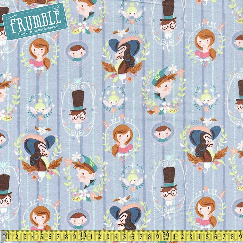 Neverland Darling Wall Periwinkle Fabric by Riley Blake