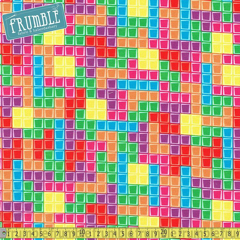 Nintendo Multi Tetris Fill Fabric by Riley Blake