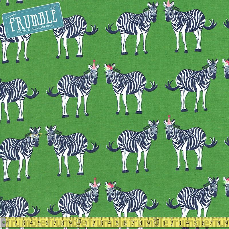 Safari Party Main Green Sparkle Fabric by Riley Blake
