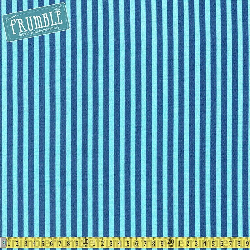Sharktown Stripe Blue Fabric by Riley Blake