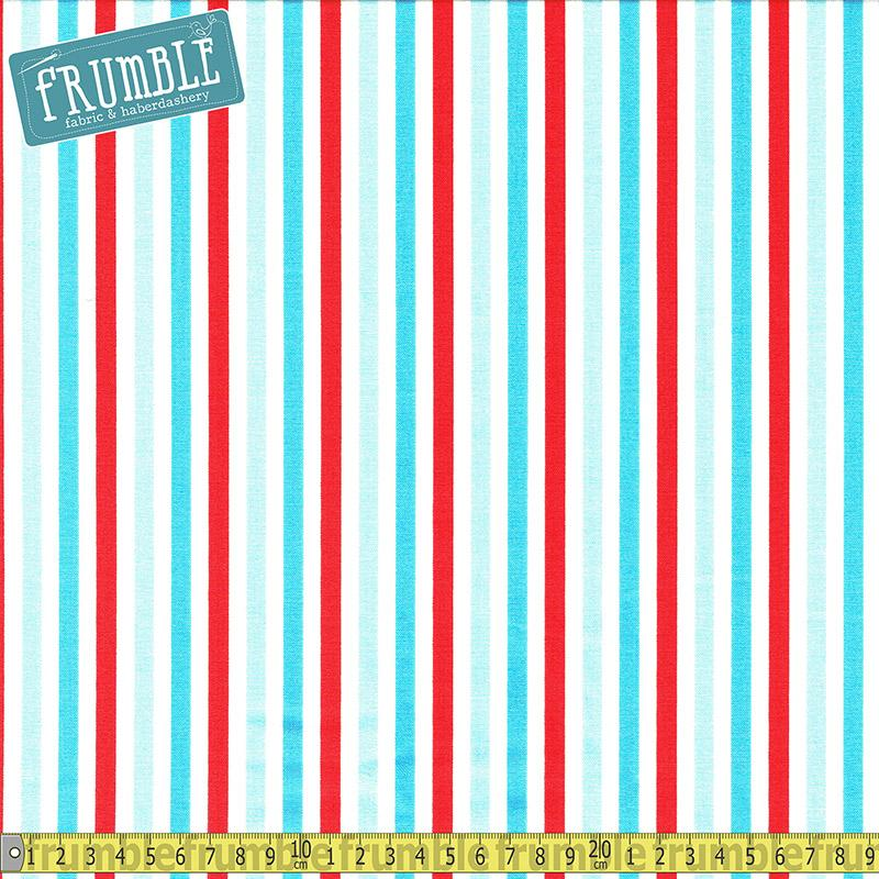 Sharktown Stripe Red - Frumble Fabrics