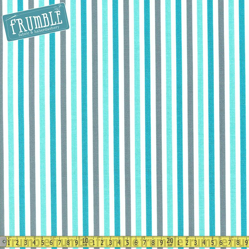 Sharktown Stripe Teal - Frumble Fabrics