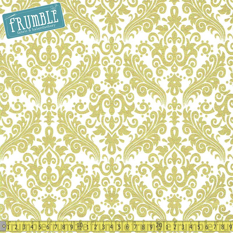 Sparkle Damask Gold - Frumble Fabrics