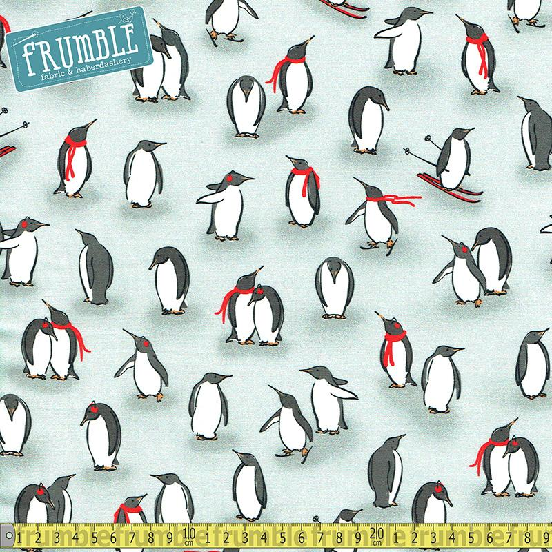 Animal Kingdom Penguins Grey - Frumble Fabrics