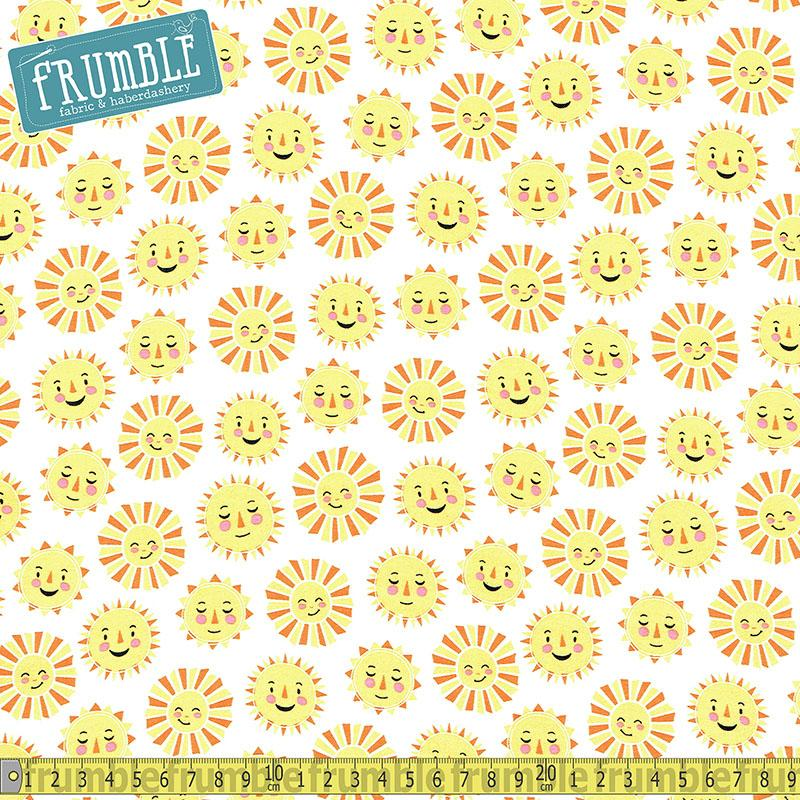 Daydreamer Sunshine White - Frumble Fabrics