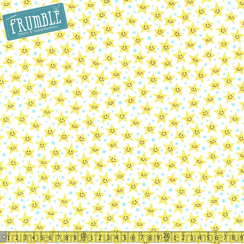 Daydreamer Twinkle Star White - Frumble Fabrics