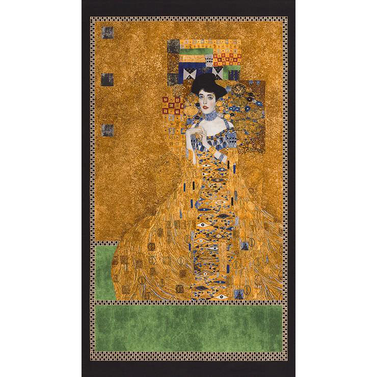 Gustav Klimt Portrait of Adele Bloch-Bauer I Metallic Gold Panel - Frumble Fabrics