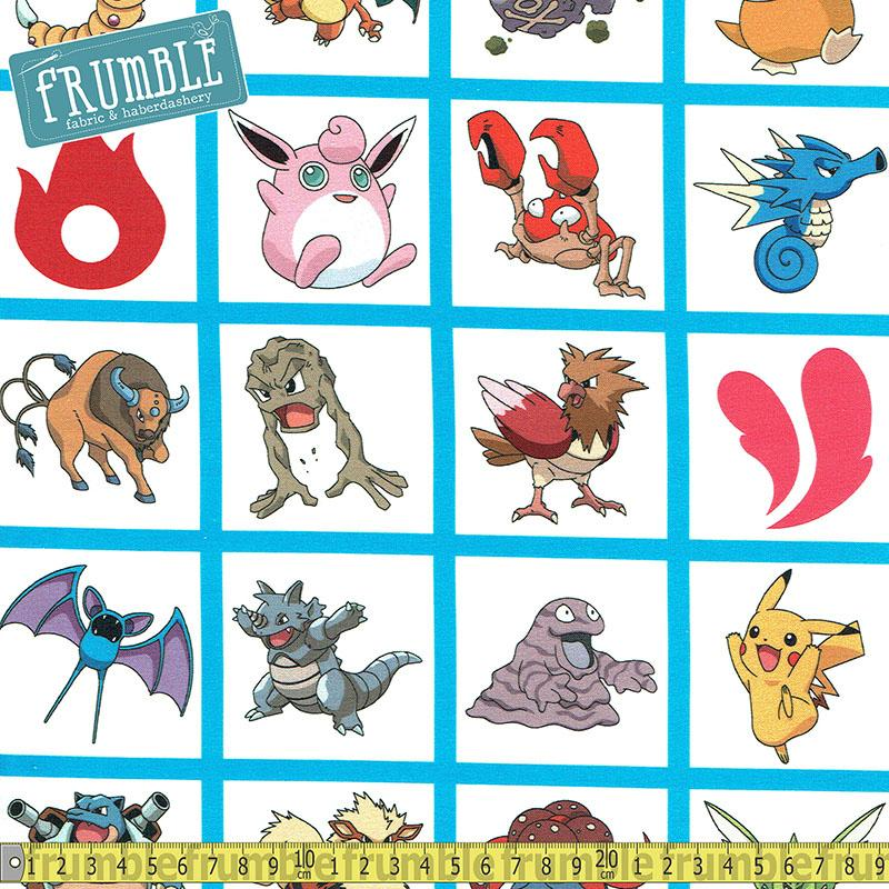 Pokemon Character Grid Multi - Frumble Fabrics