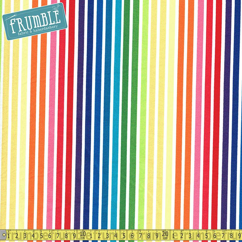 Remix Rainbow Stripes Bright - Frumble Fabrics
