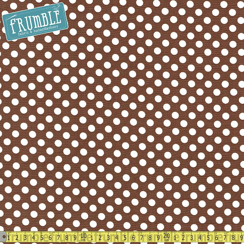 Spot On Medium Dot Brown - Frumble Fabrics