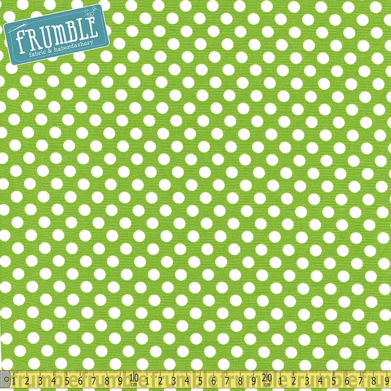 Spot On Medium Dot Lime - Frumble Fabrics