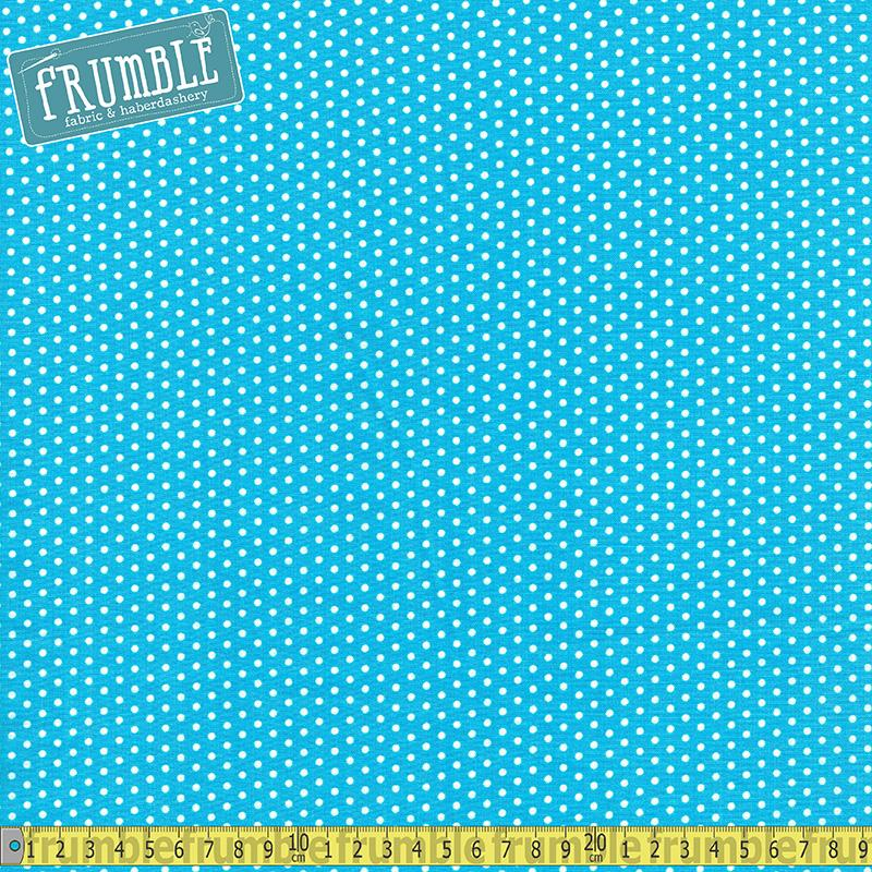 Spot On Mini Dot Blue - Frumble Fabrics