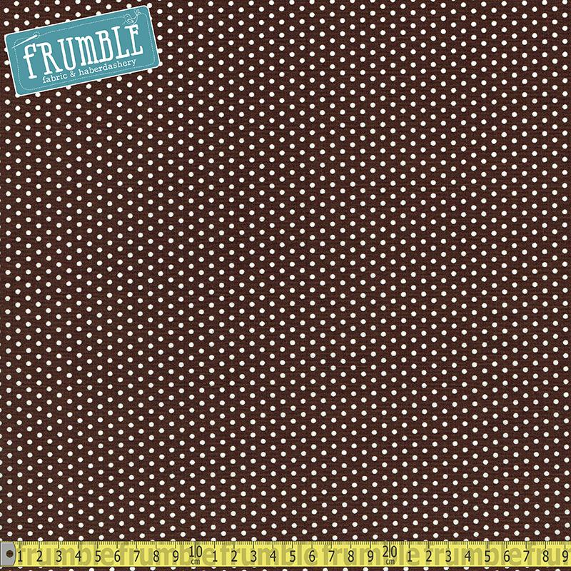 Spot On Mini Dot Chocolate - Frumble Fabrics