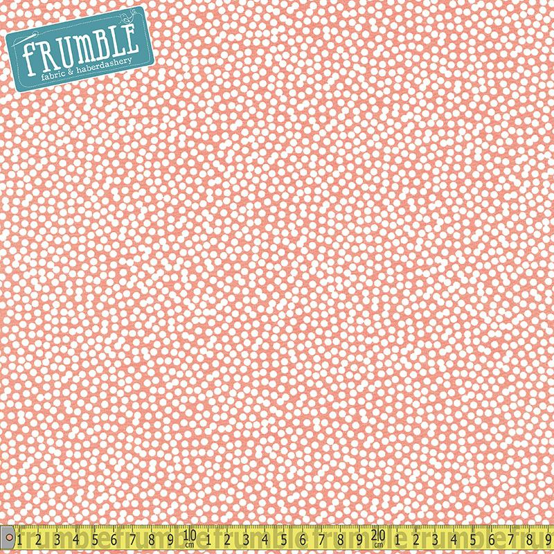 Spot On Scatter Dot Creamsicle Fabric by Robert Kaufman