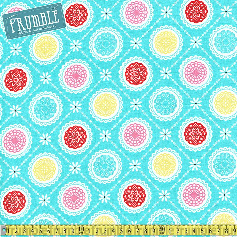 Happiness Is Handmade Aqua - Frumble Fabrics
