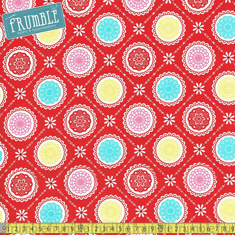 Happiness Is Handmade Red - Frumble Fabrics