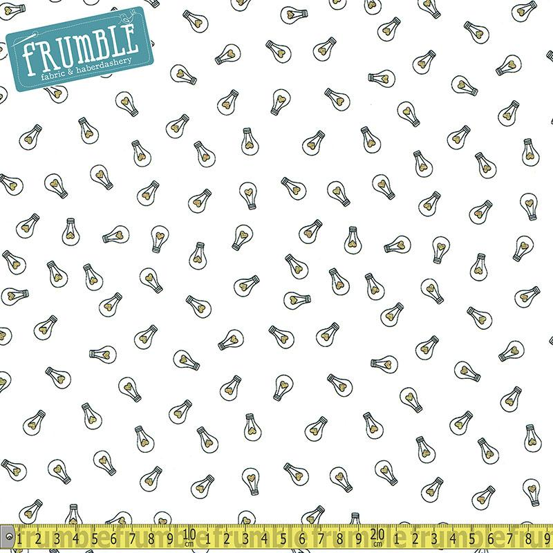 Shine Bright Metallic Lightbulbs White - Frumble Fabrics