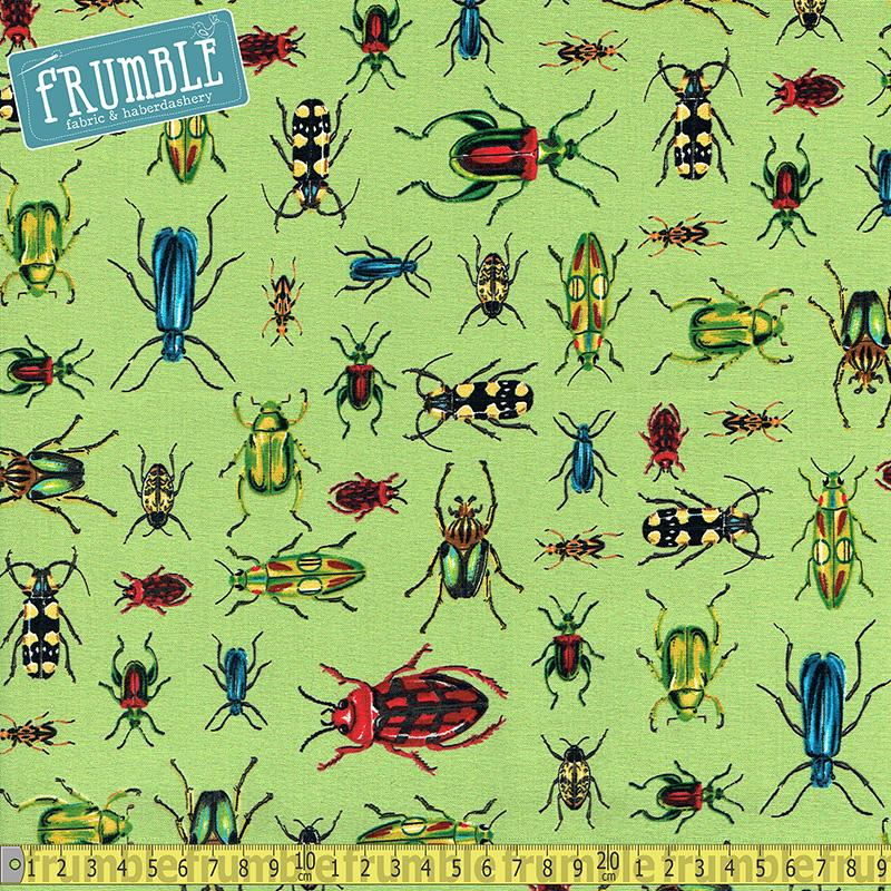 Everyday Favourites Bugs Green - Frumble Fabrics