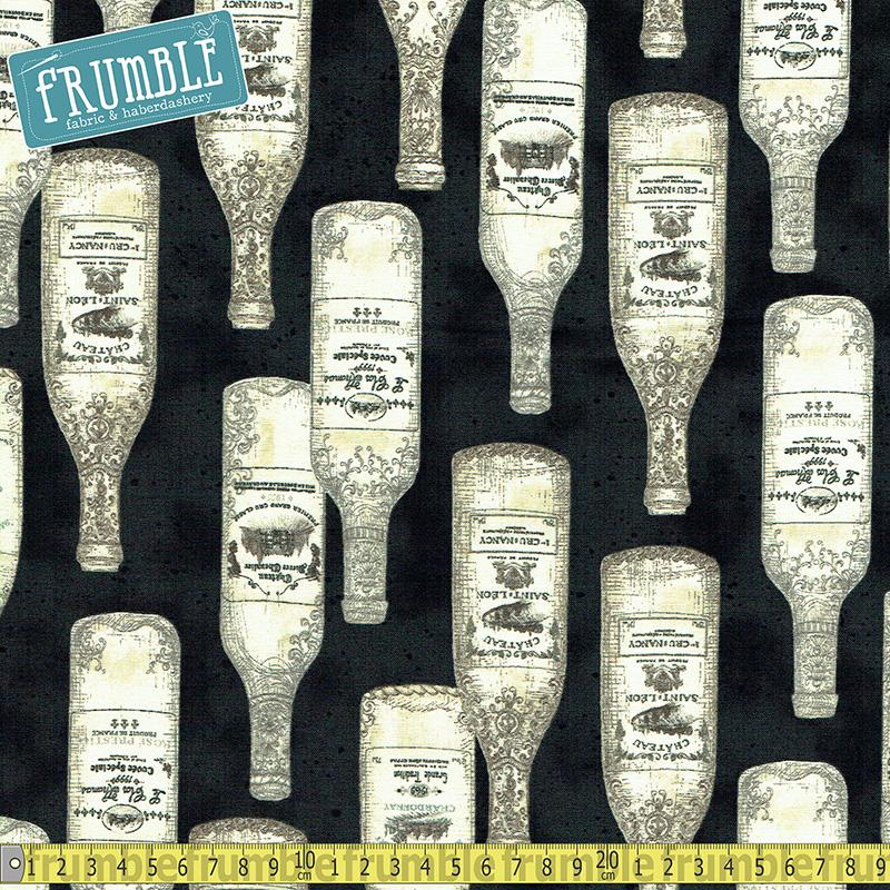 Vineyard Collection Bottles Antique - Frumble Fabrics