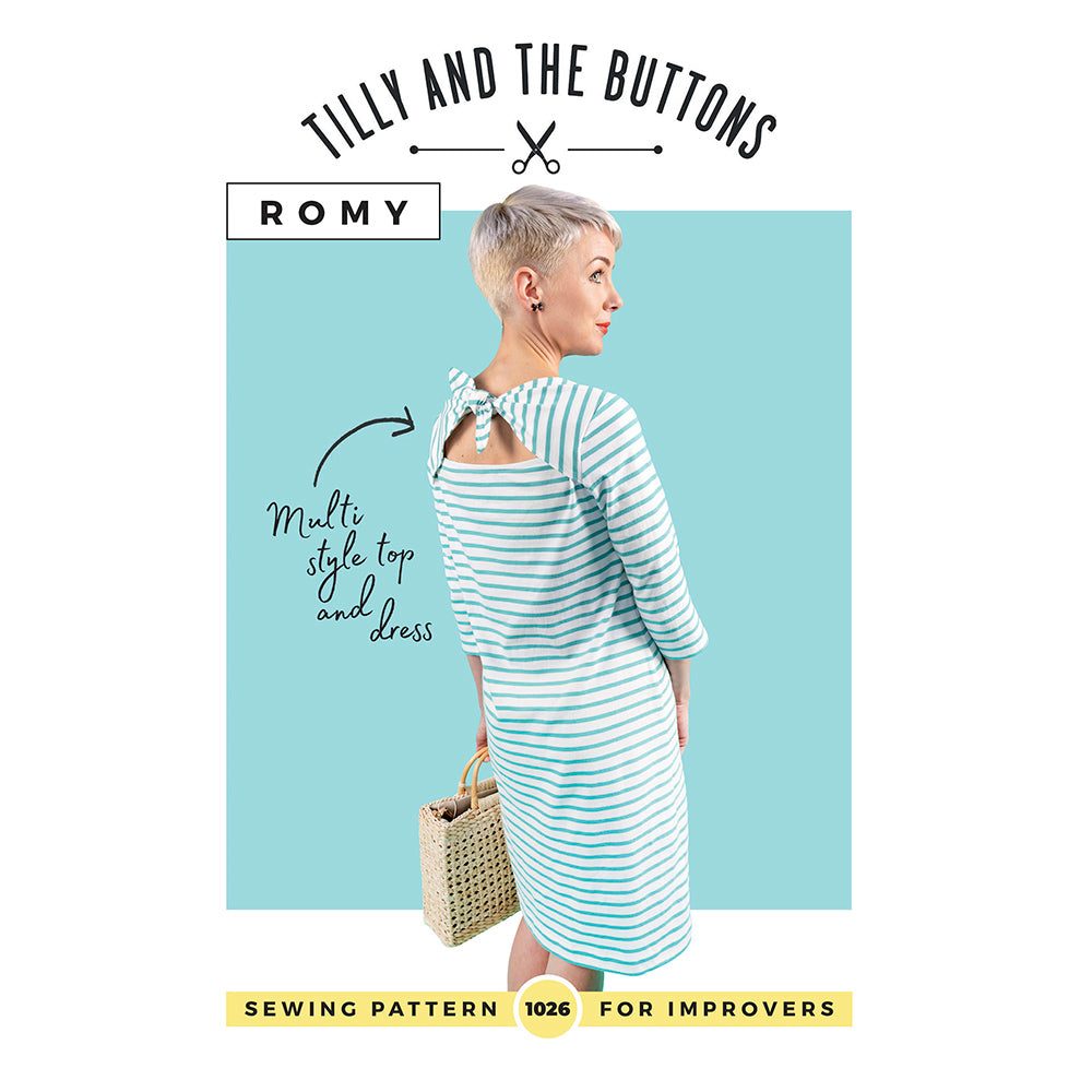 Romy Top And Dress Pattern (1026) by Tilly And The Buttons Dressmaking