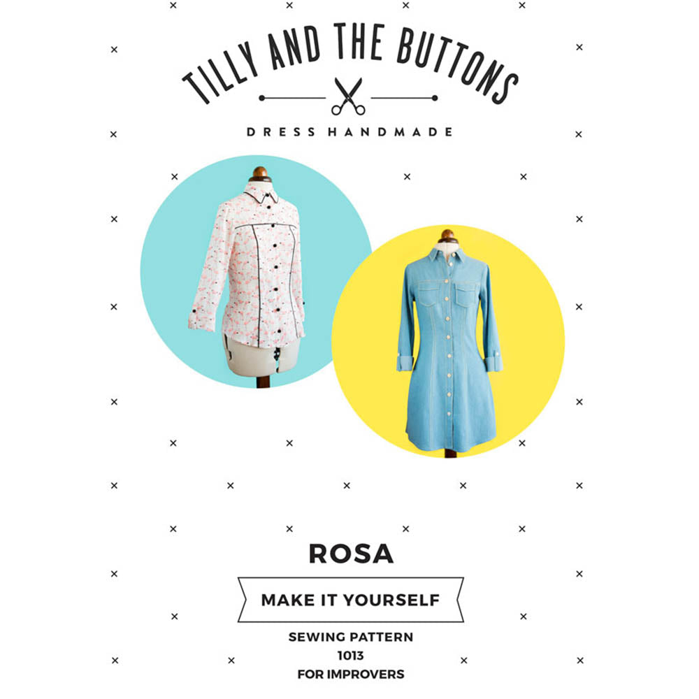1013 Rosa Shirt and Dress - Tilly and the Buttons Pattern