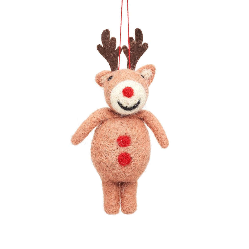 Rudolph the Red Nose Reindeer Felt Decoration
