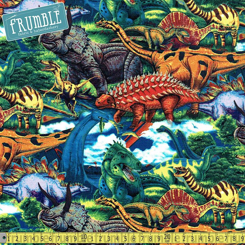 Age Of The Dinosaurs Multi Fabric by Springs Creative