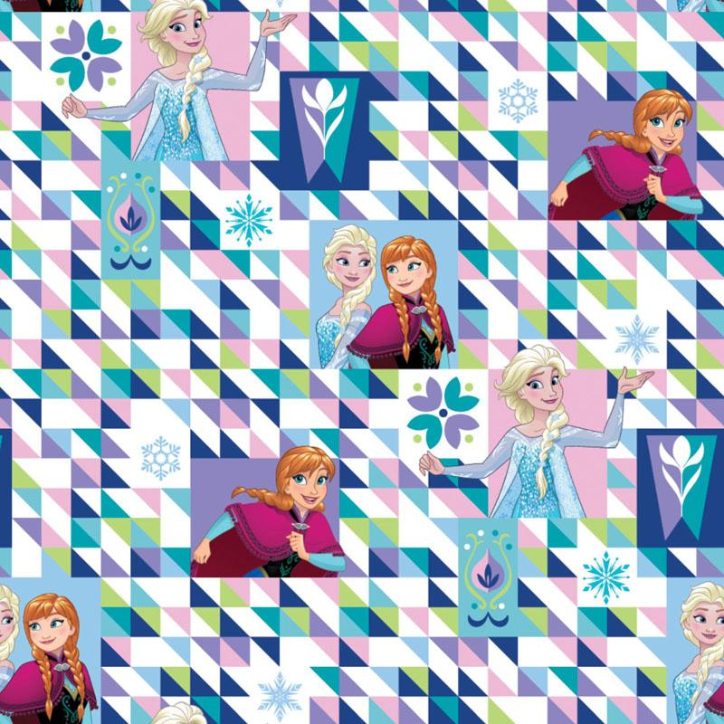 Disney Frozen Two Sisters One Heart Triangles - Frumble Fabrics