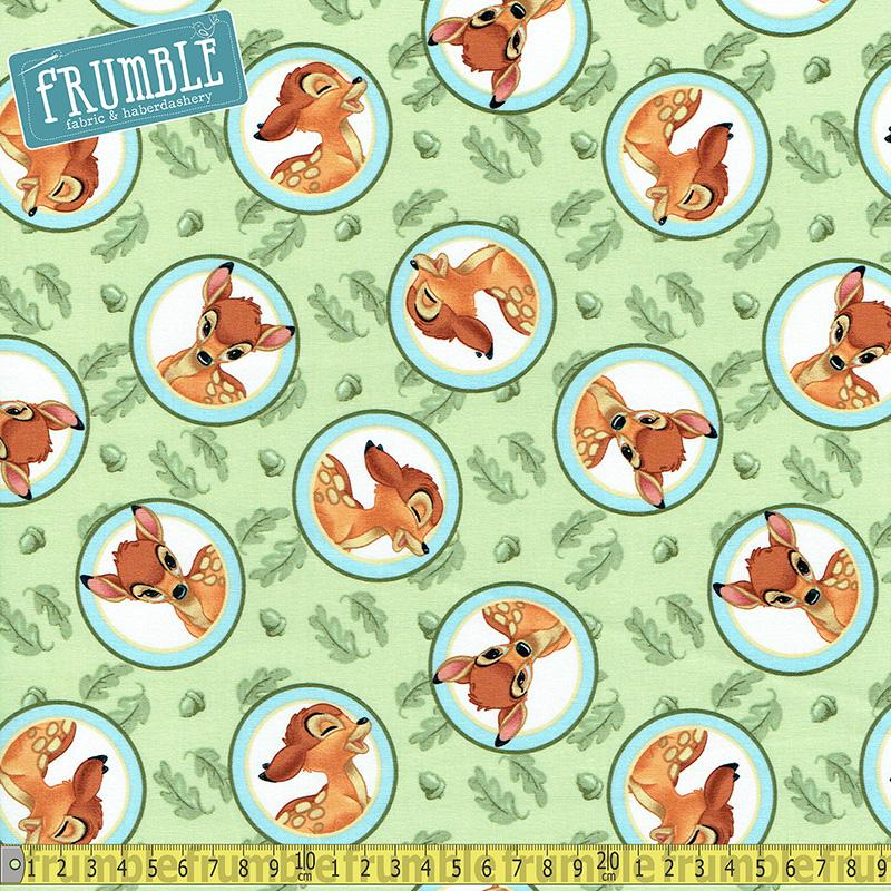 Disney Bambi Badge Multi Fabric by Springs Creative