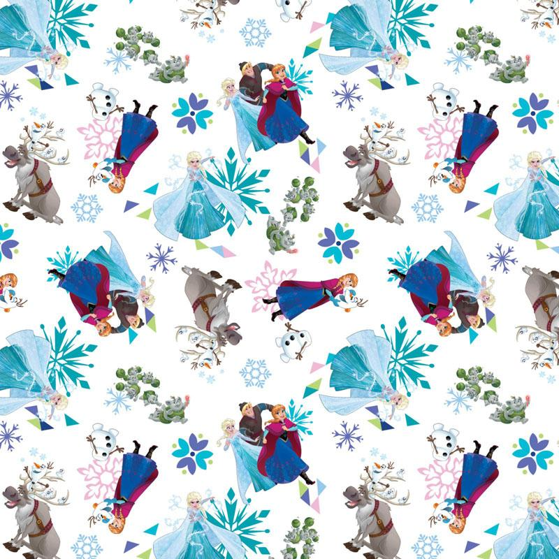 Disney Frozen Friends White Fabric by Springs Creative