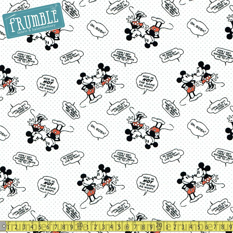 Disney Mickey Mouse Nice Is Not The Same As Wimpy Multi - Frumble Fabrics